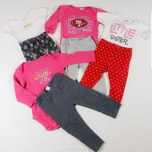 Other - 8 Piece Baby Girl Outfits 3/12 Month Old.